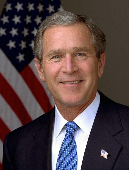 George W Bush By Eric Draper  Public Domain