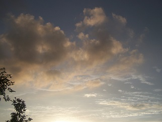Clouds seen in random formation, or those to resemble common sights...dependent on the assessment of the viewer...