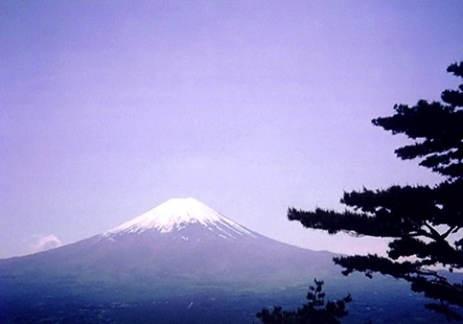 Mount Fuji's only proper showing to me.