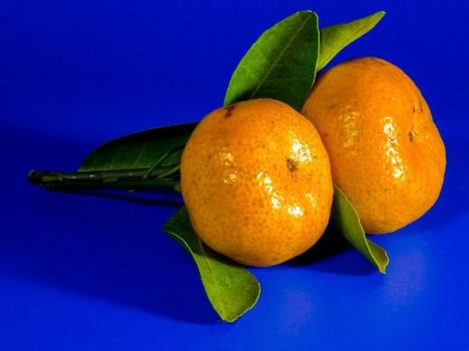 Mandarins, symbol of prosperity.