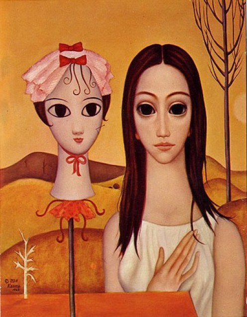 Margaret Keane almond-eyed beauty. Notice the resemblance?