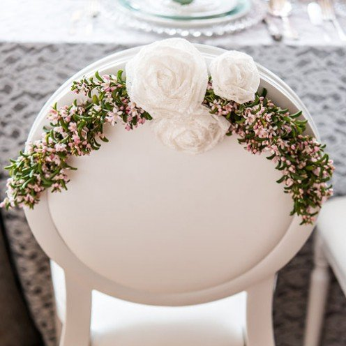 Fabric Laced Flowers from HotRef