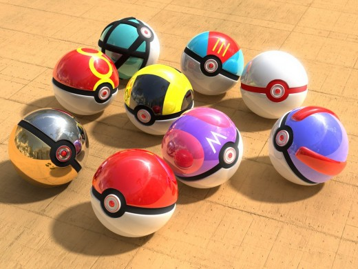 Assorted Pokeball Replicas