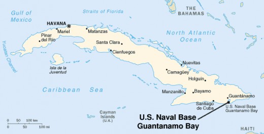 """Located near the eastern tip of Cuba, """"GITMO"""" is the oldest overseas U.S. Naval Station."""