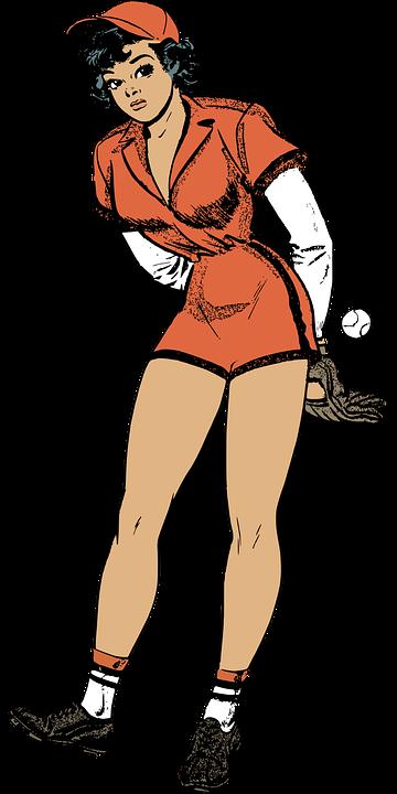 Female baseball umpire