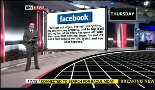 Sky News studio.
