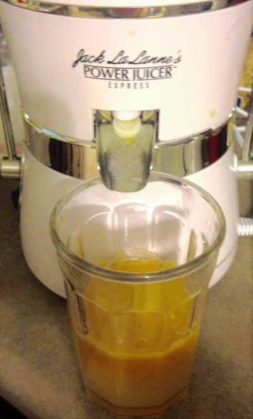 The juicer was easy to use and the apple, pear, carrot combination was sweet. The juicer retails at approximately $60, but you may find it on sale for less.