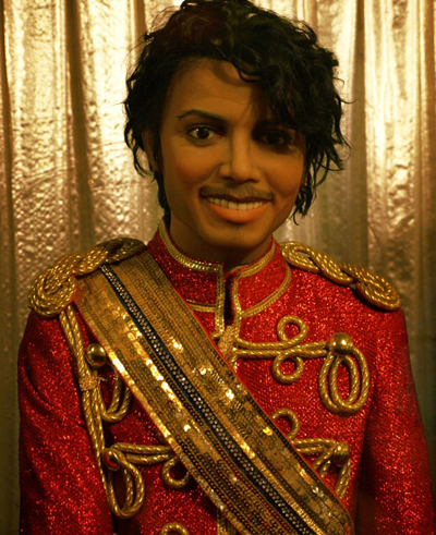 While not an actual horror prop, this unfortunately odd looking wax figure of MJ certainly fits the bill