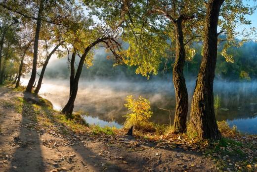 """National park """"Sviati Hory"""" (Holy Mountains), Donetsk Oblast, Ukraine."""