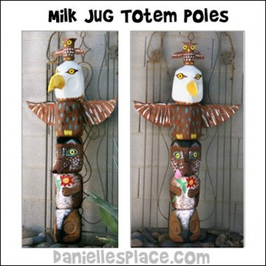 how to make a totem pole at home