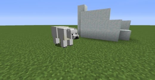 This polar bear was spawned with a spawn egg, not naturally generated.