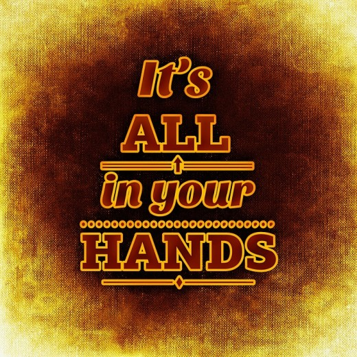 Success - It's all in your hands.