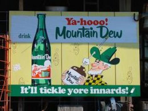 Original Mountain Dew print ad