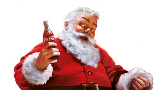 "Coca Cola, a shrewd company, signed Santa to be their ""spokes elf"""