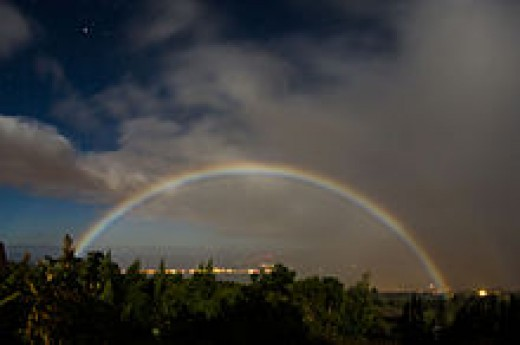 Moon Bow in Kula, Hawaii