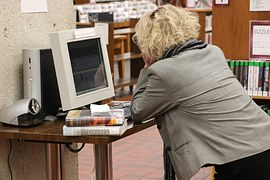 You can use computers in libraries today to do research for projects