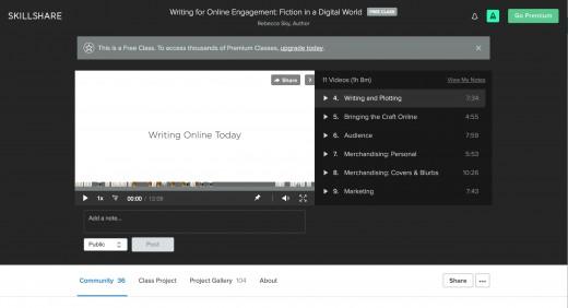 Skillshare's Learning Interface