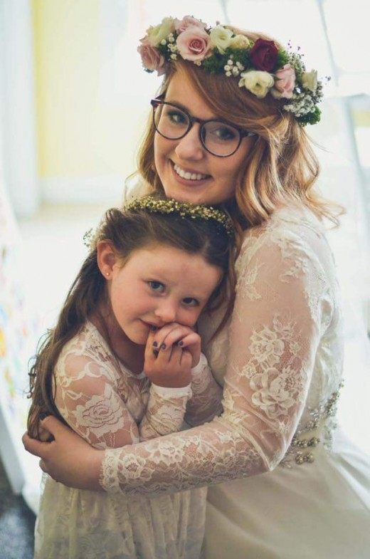 My niece and the bride