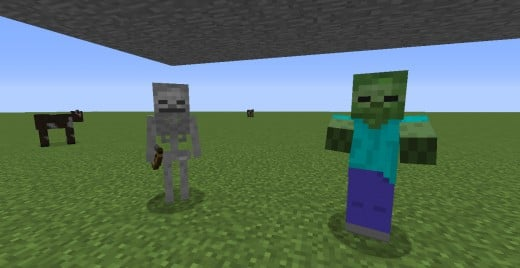 The skeleton (left) and the zombie (right)