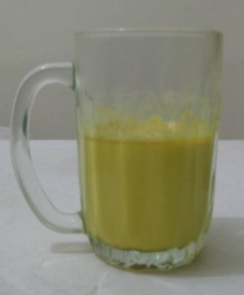 I use a glass mug because turmeric stains ceramics.