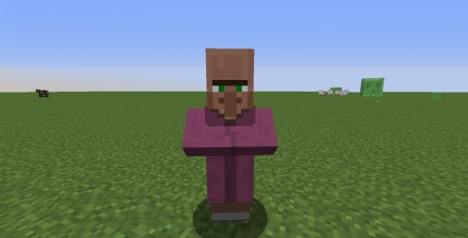 The only mob in Minecraft that can be traded with.