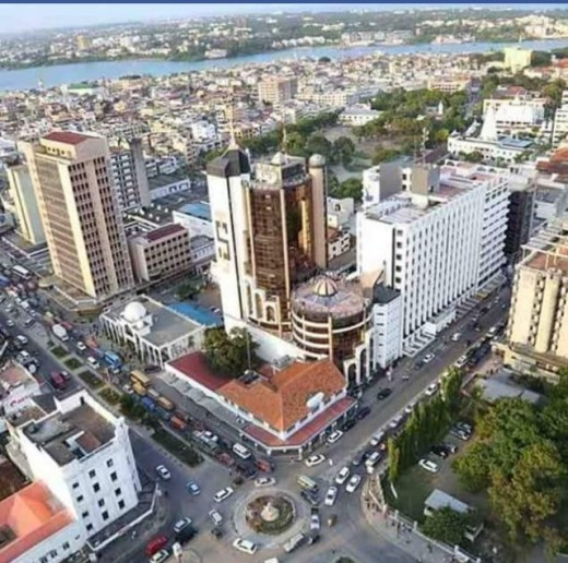 the ariel view of second largest Kenyan city