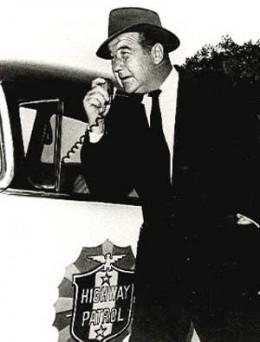 "Broderick Crawford, ""Dan Matthews,"" on ""Highway Patrol"""