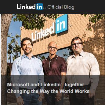 Screenshot from LinkedIn's official blog