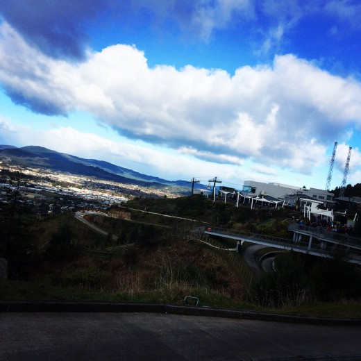 The Skyline Luge track with an amazing view (Rotorua, North Island)