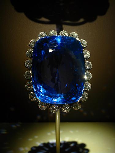 The 422.99 carats (84.60 g) blue Logan sapphire