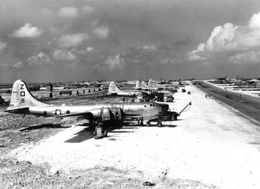 B-29s on the Siapan airfield,1945