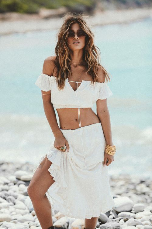 Winston White - Crop Top and Rhodes Skirt