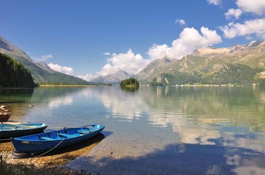 Lake Sils, in Graubünden, Swizerland.
