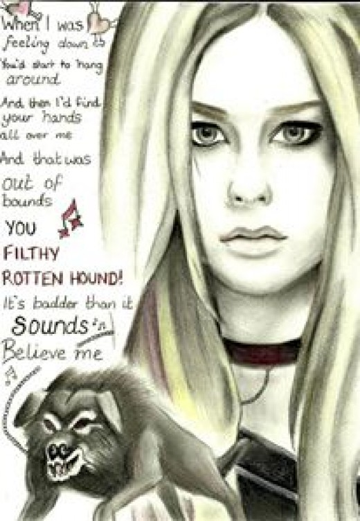 My Avril Lavinge sketch inspired by her song 'Get over it'