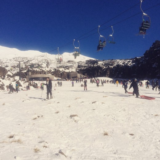 The Ski slopes at the Turoa Ski Area (Mt Ruapehu, North Island)
