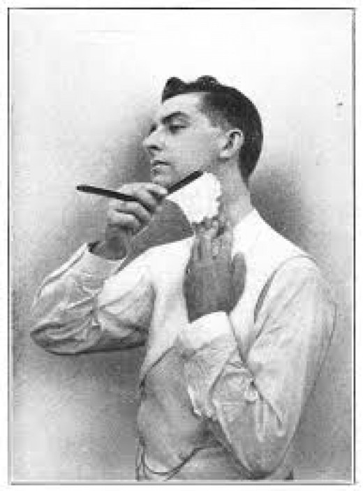 Although I must admit, shaving back in the day looked a lot more manly!
