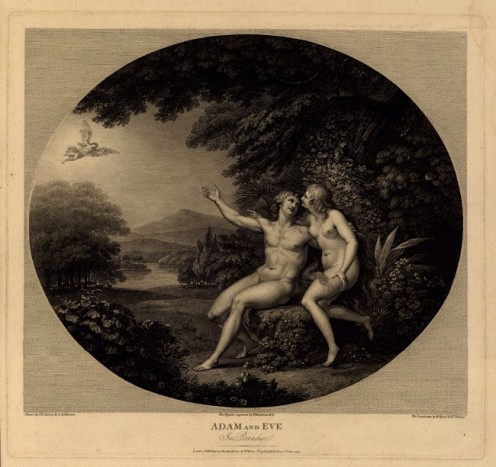 Adam and Eve in Paradise, Francesco Bartolozzi (1727-1815)