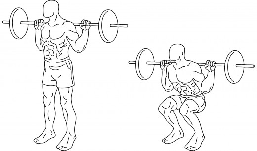 The squat is an excellent compound movement that will build size and strength for your quads, glutes, and hamstrings!