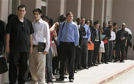 An Unemployment line in Missouri
