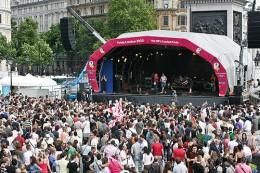 Last year's, 2008, main stage in Trafalgar Square