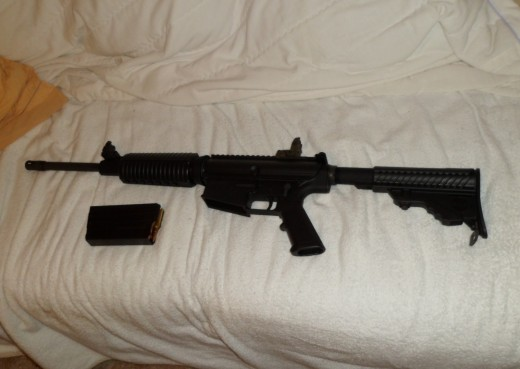 A .308 caliber rifle based on  the original AR-10 platform.