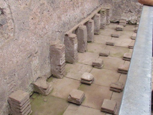 Running water, saunas, bathhouses and spas were a part of the Roman culture as proven during our tour of ruins in Pompeii.