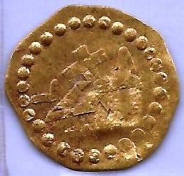 Gold One-Half Dukat Reverse Crown with cross