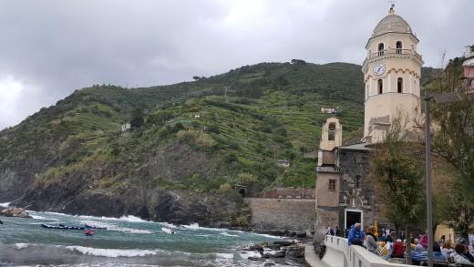 Vernazza beach view