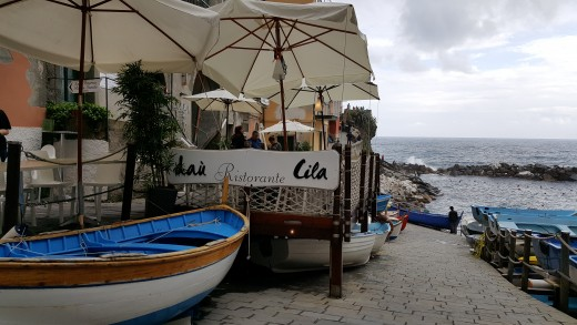 Riomaggiore - Restaurant by the sea