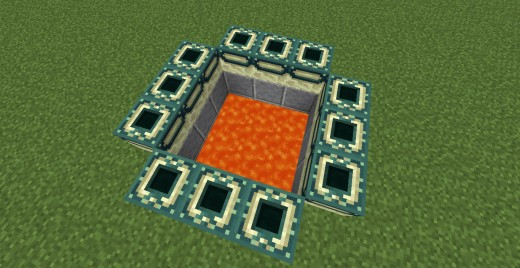 An End portal that has yet to be activated with eyes of ender
