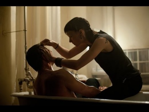 Screenshot (from The Girl with the Dragon Tattoo, 2011) - imaging Daniel Craig and Rooney Mara