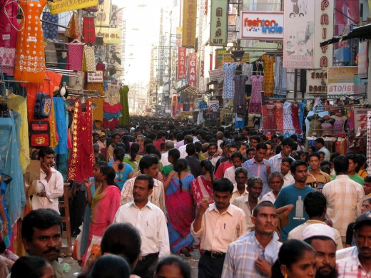 A busy street from chennai, India
