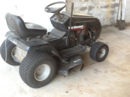 The offending ride-on mower