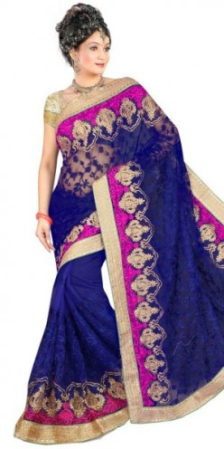 Exquisite net sarees enhances the persona of women during special occasions